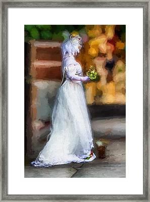 The Bride Framed Print by John Haldane