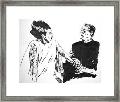 The Bride Of Frankenstein Framed Print by Bryan Bustard