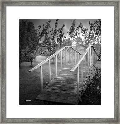 The Bridge 2 Framed Print by John Krakora