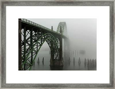 The Bridges Of Oregon's Coast - Yaquina Bay Bridge - 1  Framed Print by Hany Jadaa Prince John Photography