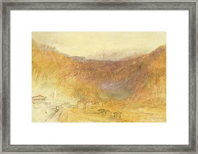 The Brunig Pass From Meiringen Framed Print by Joseph Mallord William Turner