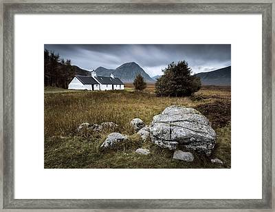 Blackrock And The Buachaille Framed Print by Dave Bowman