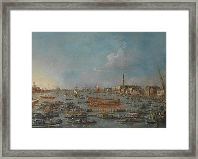 The Bucintoro Festival Of Venice Framed Print by Francesco Guardi