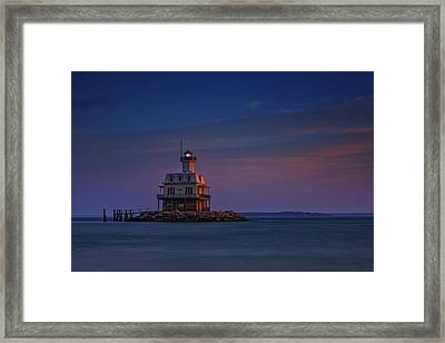 The Bug Light At Dusk Framed Print by Rick Berk