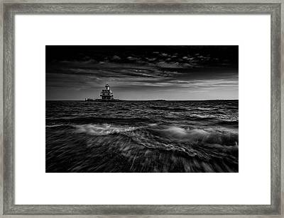 The Bug Light, Greenport Ny Framed Print by Rick Berk