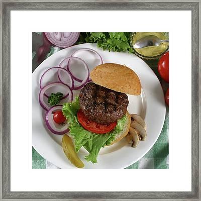The Burger 2 Framed Print by Jack Dagley