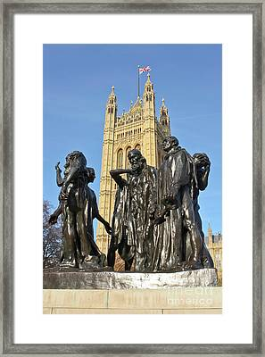 The Burghers Of Calais London Framed Print by Terri Waters