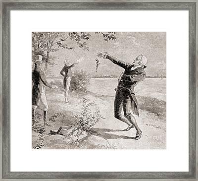 The Burr Hamilton Duel Framed Print by Henry Alexander Ogden