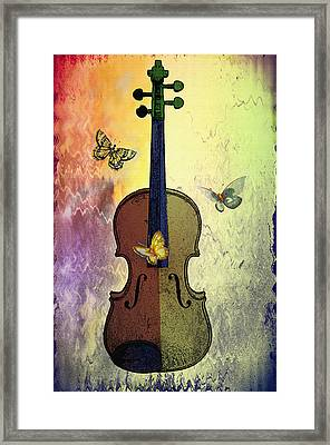 The Butterflies And The Violin Framed Print by Bill Cannon
