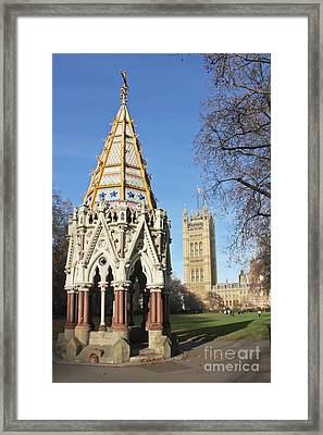 The Buxton Memorial Fountain London Framed Print by Terri Waters