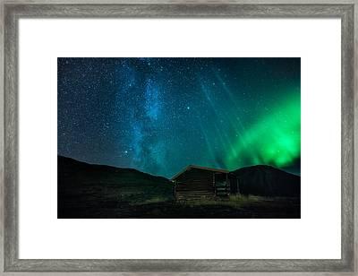 The Cabin Framed Print by Tor-Ivar Naess