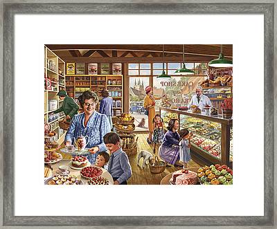 The Cakeshop Framed Print by Steve Crisp