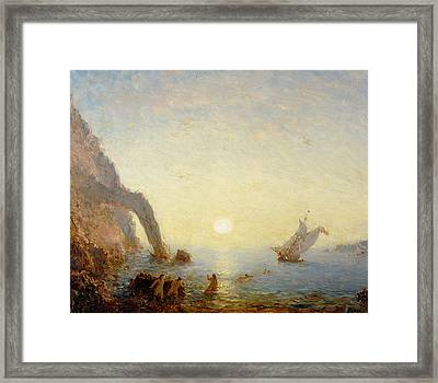 The Call Of The Sirens Framed Print by Felix Ziem