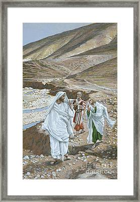 The Calling Of St. Andrew And St. John Framed Print by Tissot