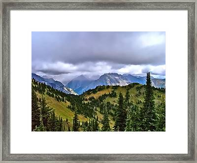 The Canadian Rockies Framed Print by Brent Sisson