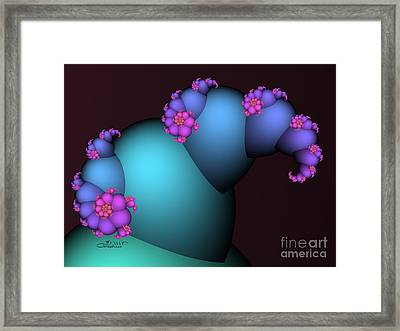 The Candy Plant Framed Print by Jutta Maria Pusl