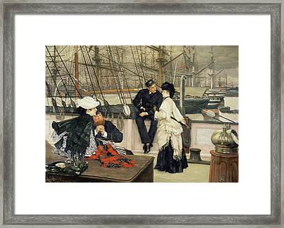 The Captain And The Mate Framed Print by Tissot
