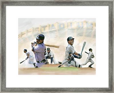 The Captains II Don Mattingly And Derek Jeter Framed Print by Iconic Images Art Gallery David Pucciarelli