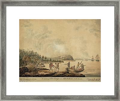 The Capture Of Fort Oswego On Lake Framed Print by Everett