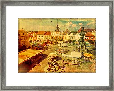 The Carnival At Chrudim Framed Print by Susan Maxwell Schmidt