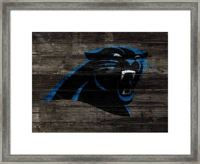 The Carolina Panthers W10 Framed Print by Brian Reaves