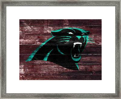 The Carolina Panthers W7 Framed Print by Brian Reaves