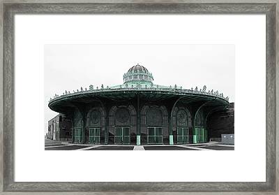 The Carousel House Asbury Park Nj Green Framed Print by Terry DeLuco