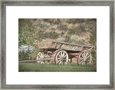 The Cart Before The Horse Framed Print by Donna Kennedy