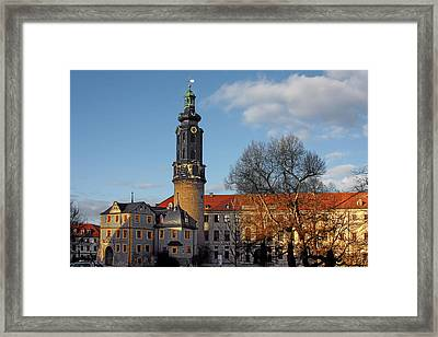 The Castle - Weimar - Thuringia - Germany Framed Print by Christine Till