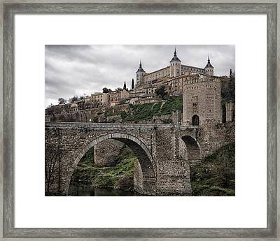 The Castle And The Bridge Framed Print by Joan Carroll