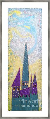 The Castle Ascends Framed Print by Aqualia
