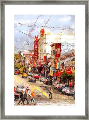 The Castro In San Francisco . 7d7572 Framed Print by Wingsdomain Art and Photography