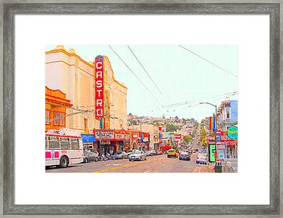 The Castro In San Francisco Framed Print by Wingsdomain Art and Photography