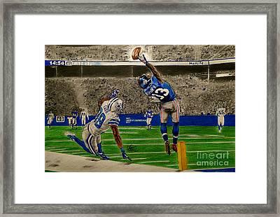 The Catch - Odell Beckham Jr. Framed Print by Chris Volpe