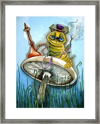The Caterpillar Framed Print by Lucia Stewart