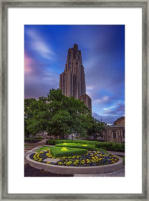The Cathedral Of Learning Framed Print by Rick Berk