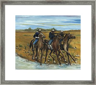 The Cavalry Framed Print by Toni  Thorne