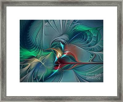 The Center Of Longing-abstract Art Framed Print by Karin Kuhlmann