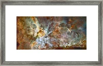 The Central Region Of The Carina Nebula Framed Print by Stocktrek Images