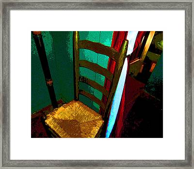 The Chair Framed Print by Mindy Newman