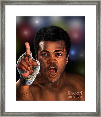 The Champ Is Here -period Framed Print by Reggie Duffie