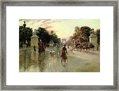 The Champs Elysees - Paris Framed Print by Georges Stein