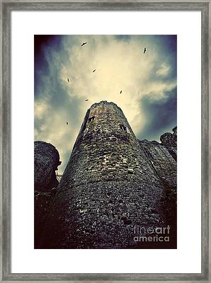 The Chapel Tower Framed Print by Meirion Matthias