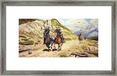 The Chase Framed Print by Marc Stewart