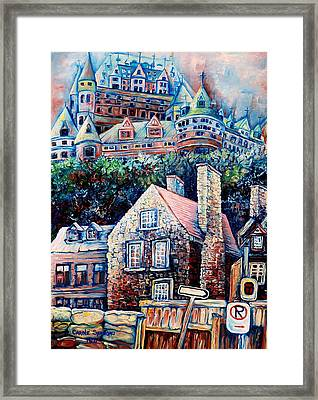 The Chateau Frontenac Framed Print by Carole Spandau