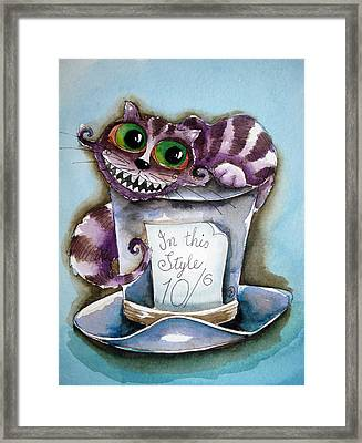 The Chesire Cat Framed Print by Lucia Stewart