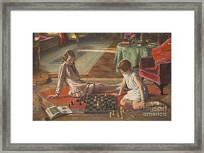 The Chess Players Framed Print by John Lavery