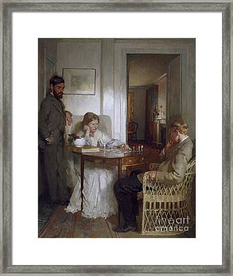 The Chess Players Framed Print by Sir William Orpen