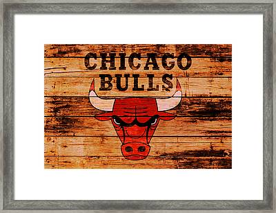 The Chicago Bulls 2w Framed Print by Brian Reaves