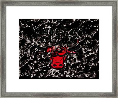 The Chicago Bulls 3e Framed Print by Brian Reaves